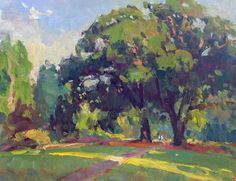 Olmsted's Genius by Richard Oversmith Oil ~ 14 x 18