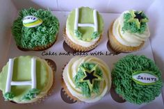 Saints rugby cupcakes