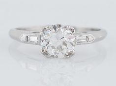Antique Engagement Ring Art Deco 1.00 Old European Cut Diamond in Platinum-1.jpg
