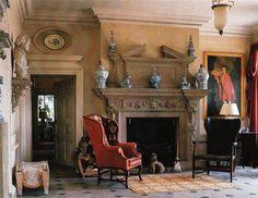Haseley House Hall - Interior Design John Fowler and Nancy Lancaster