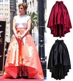 High-low skirts, also known as asymmetrical, waterfall, or mullet ...