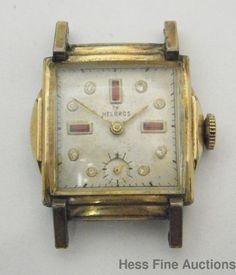 Vintage Art Deco Helbros Fancy Dial Mens Wrist Watch to Fix #Helbros