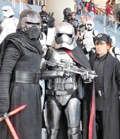 Kylo Ren, Captain Phasma, and General Hux