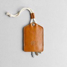 Porte-clés en cuir porte-clés. porte-clef clé fob par HANDWERS