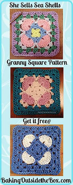 Ravelry: She Sells Sea Shells Granny Square pattern by Laura Hickman
