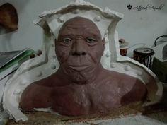 Homo neanderthalensis. Reconstrucción forense sobre el cráneo. Buddha, Statue, Art, Extinct Animals, Museums, Art Background, Kunst, Performing Arts, Sculptures