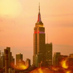 Colored Empire State Building