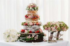 Beautiful fresh flower cakes