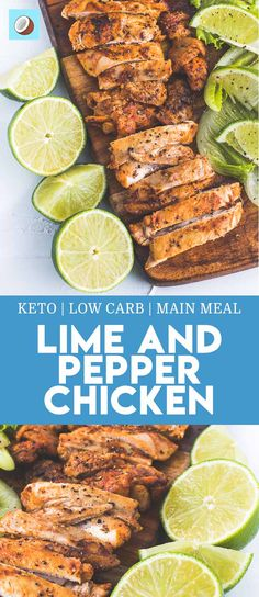 Lime and pepper grilled chicken is a keto / low carb friendly dish that will spice up your dinner, and can be served with a luscious superfood salad, or just by itself.