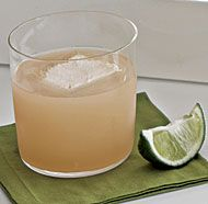 Tequila-Grapefruit cocktail, using St. Germain and Lime... close to what we were discussing, I bet!
