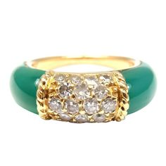 Van Cleef & Arpels Chalcedony Diamond Yellow Gold Ring