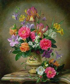 PEINTURE FLORALE Fleurs Peintes, Peinture Fleurs, Pour Peindre, Peinture  Chambre, Encre De