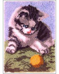 Playful Kitten - WonderArt #LatchHook Rug DIY Kit #Crafts