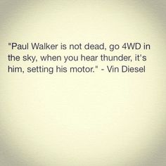 Aw this makes me sad! Vin Diesel on Paul Walker