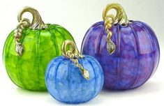 Glass Pumpkins in Coastal Colors: Michael Cohn, Molly Stone. Art Of Glass, Cut Glass, Glass Floats, Pumpkin Art, Fall Decor, Holiday Decor, Glass Pumpkins, Pumpkin Decorating, Glass Ornaments
