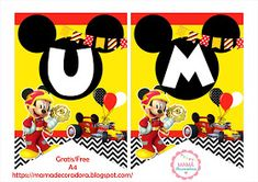 Mamá Decoradora: Kit Imprimible Mickey Sobre Ruedas Gratis Mickey Mouse Parties, Mickey Party, Minnie Mouse, Minion Party, Ideas Para Fiestas, Party Printables, Minions, Party Themes, Birthday
