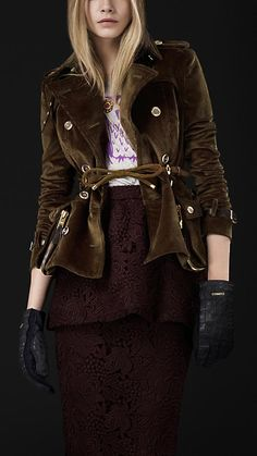 Burberry Prorsum Autumn/Winter 2012 courduroy riding jacket