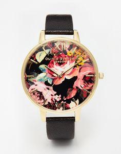 Olivia Burton – Uhr mit großem Zifferblatt mit Print