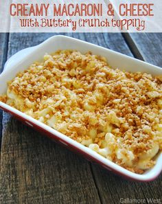 Party essential for your holiday menu: Creamy Macaroni & Cheese with Buttery Crunch Topping. @gallamorewest's version uses Town House crackers to add just the right balance of flavor and crunch. Beyond the holiday table, this dish is ideal for any time you need a casual and cozy dish of comfort food. Ways To Wow AD