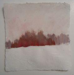Dawn Diamantopoulos: creekside, gouache on handmade paper