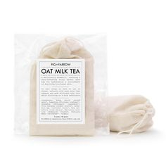 OAT MILKTEA bath sachet -- soothing, softening itch relief -- 2.5 ounces. $14.00, via Etsy.