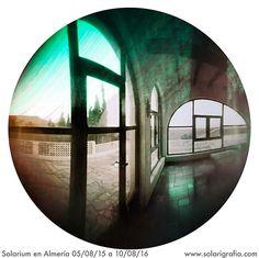Solarium en la casa de la meseta, Agua Amarga. Almería 2016 | Tiempo de exposición 5 de agosto 2015 a 10 de agosto 2016. ©Diego López Calvín. Cámara de agujero de alfiler. Orientada a poniente en el interior de un solarium. https://flic.kr/p/M86826 |  #solarigrafia #pinholephotography #longexposure #sky