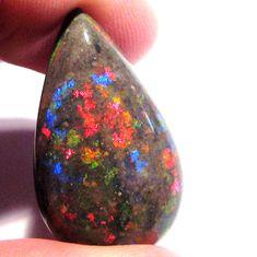 Beautiful Australian Andamooka Matrix Opal pear shape multicolours (1902) #Ourownbrand
