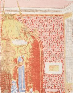 Vuillard, Edouard Interior with Pink Wallpaper III (Interieur aux tentures roses III) c. 1896 (published color lithograph on china paper Van Gogh Museum, Edouard Vuillard, Henri Rousseau, Henri Matisse, National Gallery Of Art, Vincent Van Gogh, Foundation, Oil Painting Reproductions, Museums