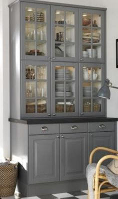Luxury Small Wall Display Cabinets with Glass Doors