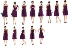 I'm in love with these bridesmaid dresses, along with the color :) (Italian Plum)