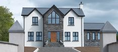 Silicone TC 15, Co. Antrim | K Rend Stone Front House, House Front, Exterior Colors, Exterior Design, Dream Home Design, House Design, Sims 4 Houses, Log Homes
