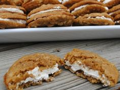 Oatmeal Cream Pie- just like Little Debbie but homemade! Wrap individually for on the go!