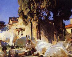 Oxen Resting 1907 | John Singer Sargent | Oil Painting