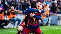 @fcbarcelona El conjunto azulgrana se impone con goles de Leo Messi y Luis Suárez ante un digno Atlético, que terminó con nueve por las expulsiones de Filipe Luis y Diego Godín #9ine