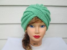 Knit Turban hat turban knit hat womens winter hats by Ritaknitsall