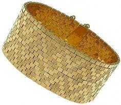 Vintage_Gold_Retro_Bracelet | New York Estate Jewelry | Israel Rose