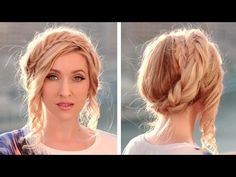 ▶ Halo braid tutorial ❤ Milkmaid braids updo ❤ Crown hairstyle for long hair - YouTube