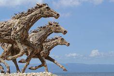 Impressive Driftwood Horse Sculptures by James Doran-Webb | Wave Avenue