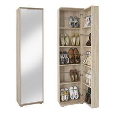 Argos Tall Pine Shoe Cabinet with Mirror Door – Storage Ideas