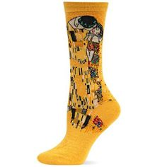 """High Museum of Art — The Kiss Socks: While this sock isn't made of gold it perfectly portrays Gustav Klimt's """"Golden Period"""" with his most famous painting, The Kiss. Put these on your feet and you'll be walking on sunshine. Imported. High Museum Shop"""