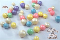 Modeling chocolate pearl decorations