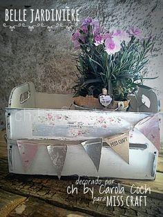 Belle jardiniére by ch... #chbycarolacoch #misscraft #fleurpaint #wood #vintage #shabby #homedecor #spring