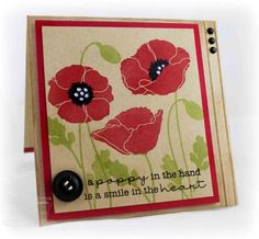 A Poppy in the Hand by One Happy Stamper - Cards and Paper Crafts at Splitcoaststampers