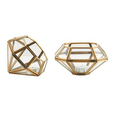 Diamond Kerzenleuchter Messing, 2er-Pack - - House Doctor - RoyalDesign.de