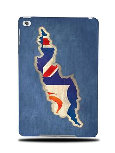 ANGUILLA NATIONAL COUNTRY FLAG HARD BACK CASE COVER FOR APPLE iPAD MINI 4