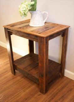 Pallet Wood Side Tables | Pallet