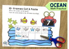 Have fun with this Math Ocean Animals Preschool activities. Jam-packed with bright and engaging counting activities for number 1-10 Ocean Activities, Counting Activities, Summer Activities For Kids, Math For Kids, Math Games, Learning Numbers Preschool, Preschool Themes, Subtraction Activities, Homeschooling