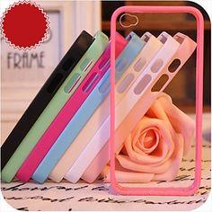 iPhone+4/4S/iPhone+4+-+Per+retro+-+per+Design+(+Rosso/Nero/Bianco/Verde/Blu/Rosa/Viola/Rosé+,+Silicone+)+–+EUR+€+3.91