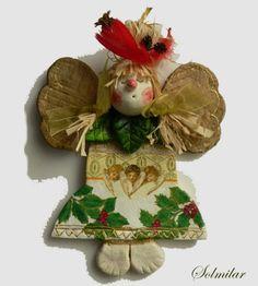 Świąteczny anioł/masa solna/tutorial Salt Dough, Rubrics, Christmas Ornaments, Holiday Decor, Home Decor, Salt, Decoration Home, Room Decor, Christmas Jewelry