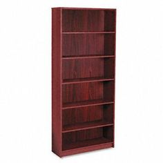 "Laminate Bookcase with Radius Edge, 6 Shelf, 36w x 84h, Mahogany (HON1897N) by Hon. $250.93. Compliance, Standards - Meets or exceeds ANSI/BIFMA Standards. Back Finish - Front Only. Corner/Edge Style - Radius Edge. Color(s) - Mahogany. Adjustability - 4 Adjustable Shelves, Shelves Adjust In 1 1/4"" Increments. DETAILS:   1890 Series Laminate Bookcases with Radius Edge Durable, long-lasting laminate finish, radiu edges. 3/4"""" thick shelves adjust in 1-1/4"""" increments. Four adj..."